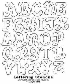 Lettering templates celco lettering stencils four graffiti use these free printable letter stencils for school projects scrapbooking decorating plus many other free stencils pronofoot35fo Image collections
