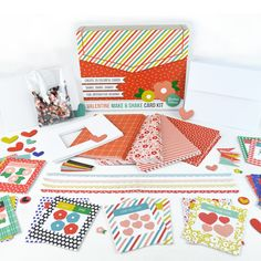 """Hey, card-makers!  Valentine """"make & shake"""" card kit from Anthology by Lisa Bearnson is now available!!  Here are all the elements of the kit.  #socute You can order this kit at www.heritagemakers.com/jenniferwise by clicking """"products"""" then """"Anthology by Lisa Bearnson."""""""