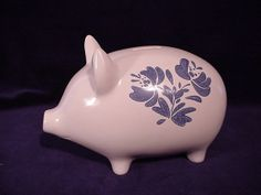 Pfaltzgraff YORKTOWNE China Pig Bank by topomauk on Etsy, $19.99