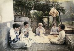 """Local women sit on cobbles """"tailor fashion"""" embroidering linen National Geographic Images, Tailored Fashion, Local Women, The Good Old Days, Color Photography, Image Collection, Old Pictures, Painting, Beautiful"""