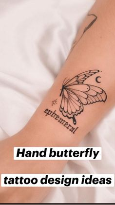 Pretty Tattoos For Women, Butterfly Tattoos For Women, Butterfly Tattoo Designs, Henna Tattoo Designs, Tattoo Ideas, Body Art Tattoos, Hand Tattoos, Small Tattoos, Sleeve Tattoos