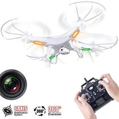 Syma Quadcopter Drone with HD Camera X5C ... These drones that follow you are awesome, check them out in our site