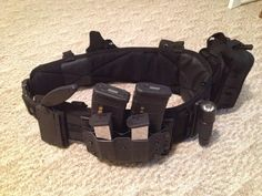 Ready Belt with Condor Tactical Molly and duty belt, Medic pack and custom Kydex holster & mag holders by JC Custom Kydex