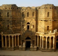 Roman Theatre.. Bosra, Syria (by atsjebosma on Flickr)