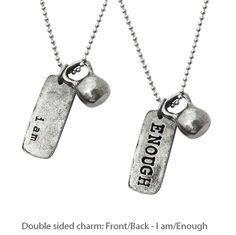 Kettlebell (medium pewter) I am Enough | Fashletics http://www.shareasale.com/r.cfm?B=595180&U=737413&M=53004&urllink=