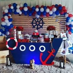 Sailor Baby Showers, Anchor Baby Showers, Boy Baby Shower Themes, Baby Boy Shower, Sailor Birthday, Sailor Party, Baby Boy Birthday, Birthday Themes For Boys, Boy Birthday Parties