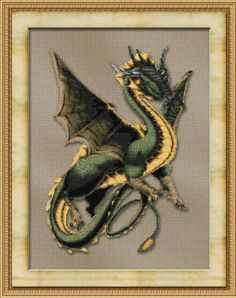 Friendly Dragon Cross Stitch Pattern pattern on Craftsy.com