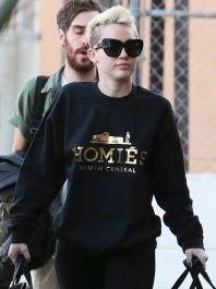 Miley Cyrus in Brian Lichtenberg  -  Women's Gold Ink Homies Sweatshirt