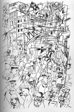 Friedrichstrass by George Grosz