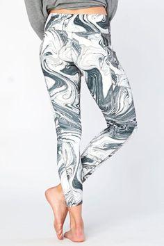 Patterned Pocket Recycled Bottles Capri Leggings Marble Print, Recycled Bottles, Womens Workout Outfits, Girl Gang, Capri Leggings, Printed Leggings, Fit Women, Active Wear, Windbreaker