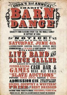 """love this barn dance invite """"notice"""" for a wedding invite"""