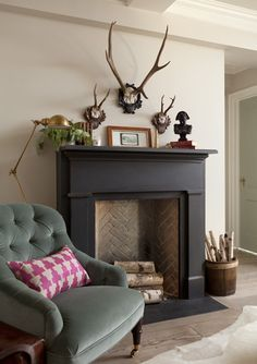 top fake fireplaces that look real household ideas design chic faux fireplace ru. : top fake fireplaces that look real household ideas design chic faux fireplace rustic fireplaces black fireplace surround decorating ideas for small living room Black Fireplace Surround, Paint Fireplace, Fake Fireplace, Fireplace Hearth, Fireplace Surrounds, Fireplace Design, Fireplace Ideas, Painted Fire Surround, Painted Fireplace Mantels
