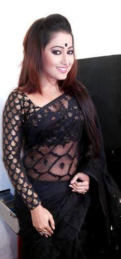 Black Dhakai and full sleeve chandeye blouse