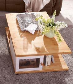 Details:  3 cm starke Tischplatte, FSC®-zertifiziertes Massivholz, Mit Innenfach, Fachinnenmaße (B/T/H): 39/37.5/30 cm,  , Mit Schubkästen, Innenmaße (B/T/H): 42.5/44/30 cm,  , Das Holz ist Kiefer massiv.,  Maße:  (B/T/H) ca. 85x85x40 cm, 40 cm Tischhöhe, 3 cm starke Tischplatte, Alles ca.-Maße,  Informationen zu Lieferumfang und Montage:  Selbstmontage mit Aufbauanleitung,  Material:  FSC®-z...