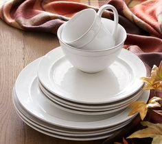 Cambria 16-Piece Dinnerware Set - Stone & Joshua Dinnerware Ivory | Pottery Barn | HOME and DIY Crafts ...