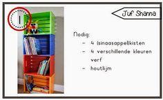 Juf Shanna: DIY een boekenbak/kast voor in de klas!