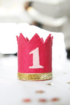 diy felt bday crown