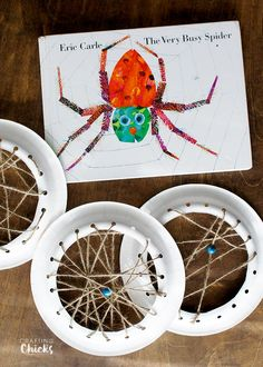 Very Busy Spider Webs Crafts Very Busy Spider book craft - Kids will love creating their own web, just like The Very Busy Spider!Very Busy Spider book craft - Kids will love creating their own web, just like The Very Busy Spider!