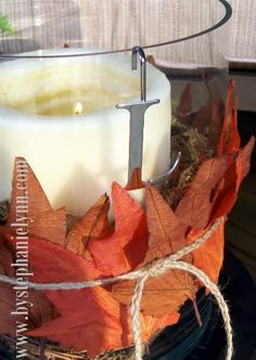 Under The Table and Dreaming - 9: More Recycled Sweater Vases {Easy & Simple Fall Decor}