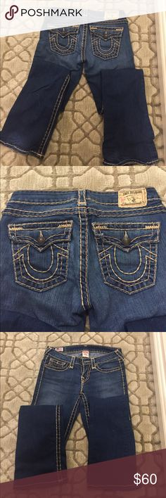 True Religion women's jeans size 27 True Religion Women's size 27 jeans boot cut, hardly worn! Great condition!' True Religion Jeans Boot Cut