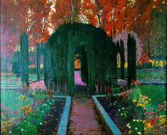 Kai Fine Art is an art website, shows painting and illustration works all over the world. A4 Poster, Poster Prints, Oil Painting Gallery, Art Nouveau, Famous Gardens, Spanish Art, Professional Painters, Garden Painting, Oil Painting Reproductions