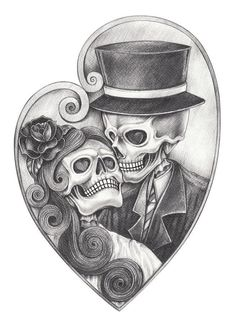 Hand Pencil Drawing, Pencil Drawings, Tattoo Drawings On Paper, Skull Couple Tattoo, Day Of The Dead Artwork, Day Of The Dead Drawing, Day Of The Dead Skull, Arte Lowrider, Skull Coloring Pages