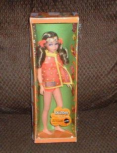 NEW SKIPPER TWIST N' TURN WAIST WITH JAVA BROWN SAUSAGE CURLS #1105 --1970-- MIB #Mattel #DollswithClothingAccessories