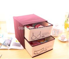 Hot high quality Underwear storage box clothing organizer useful Non woven fabric box-in Storage Boxes & Bins from Home & Garden on Aliexpress.com | Alibaba Group