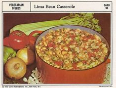 This Lima Bean Casserole lost its battle before it even entered the fight. Bless its little lima bean heart. This casserole did not ask to be made. Lima Bean Recipes, Beef Recipes, Soup Recipes, Bean Casserole, Casserole Recipes, 1970s Food, Retro Food, Vintage Food, Beef Olives