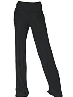RICK OWENS - DOUBLE SILK GEORGETTE TROUSERS - LUISAVIAROMA - LUXURY SHOPPING WORLDWIDE SHIPPING - FLORENCE