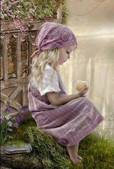 "Next theme: ""A Lilac Cottage"" Kind Photo, Photo D Art, Precious Children, Beautiful Children, Lavender Cottage, Shades Of Purple, Beautiful Paintings, Vintage Children, Belle Photo"