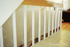 Babyproofing stair railings with plexiglass | TheMombot.com