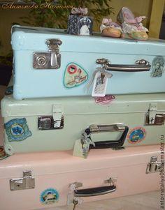 """Купить Чемодан """"Ах, Алиса!"""" - чемодан, чемоданчик, переделка, реставрация, чемодан ручная работа"""