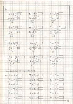 művelet-műveletre_1 - Kiss Virág - Picasa Web Albums Class 1 Maths, Math Sheets, Kids Math Worksheets, Homeschool Math, Math For Kids, Elementary Math, Math Classroom, Teaching Math, Album