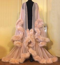 "Image of ""Cassandra"" Extravagant Naturelle Marabou Dressing Gown  (pre-order!)"