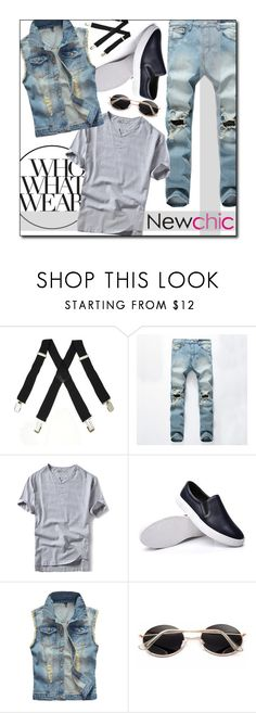 """""""NEWCHIC//21"""" by tamarasimic ❤ liked on Polyvore featuring Who What Wear, men's fashion and menswear"""