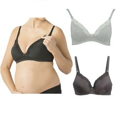 Cotton Women/'s Maternity Nursing Breastfeeding Nightdress Shirt Gown M101