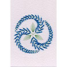 Bead Medallion 1: Wisteria - Stitching Cards