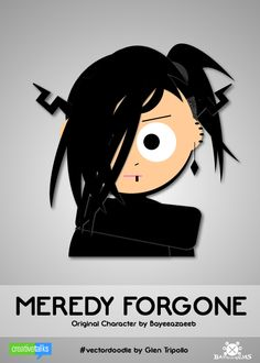 MEREDY FORGONE, original character by Bayeeazeeb. #VectorDoodle by Glen Tripollo
