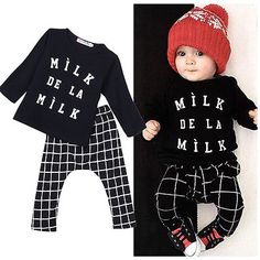 Newborn Baby Boys Girls T-shirt Pants Sportwear Tracksuit Outfits Set Clothes Baby Clothes Set Baby Clothing Set♦️ SMS - F A S H I O N 💢👉🏿 http://www.sms.hr/products/newborn-baby-boys-girls-t-shirt-pants-sportwear-tracksuit-outfits-set-clothes-baby-clothes-set-baby-clothing-set/ US $5.05