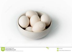 Eggs In White Bowl On White Background - Download From Over 45 Million High Quality Stock Photos, Images, Vectors. Sign up for FREE today. Image: 62215422
