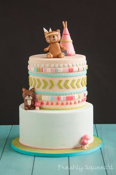 Brooks Woodland Animal Baby Shower Cake