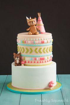 Brooks Woodland Animal Baby Shower Cake