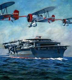 Navy Aircraft, Ww2 Aircraft, Aircraft Carrier, Military Aircraft, Military Art, Military History, Navy Carriers, Imperial Japanese Navy, Naval History