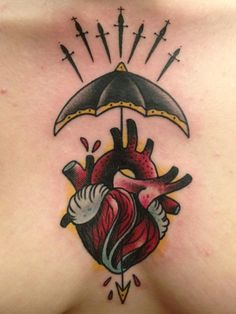 cool heart tattoo, like the dagger rain