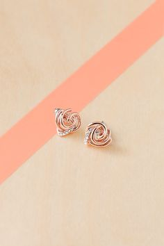 For the girl who loves glitz: rose gold glitz studs are sure to please.