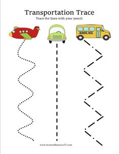 Transportation Activities for Preschoolers is part of Transportation Preschool crafts - Preschoolers love anything that moves! Here are several transportation activities you can do with preschoolers! Book ideas, free printables, and much more! Transportation Preschool Activities, Transportation Worksheet, Preschool Themes, Preschool Lessons, Preschool Worksheets, Preschool Learning, Preschool Crafts, Toddler Activities, Preschool Printables