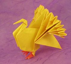 Origami Turkeys And The Books Showing You How To Make Them Learn More On Gilads Page