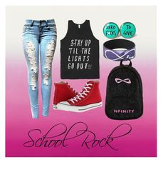 """""""school#5"""" by marshmallowkuini ❤ liked on Polyvore featuring Converse"""