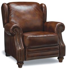 Leather recliner arm chair